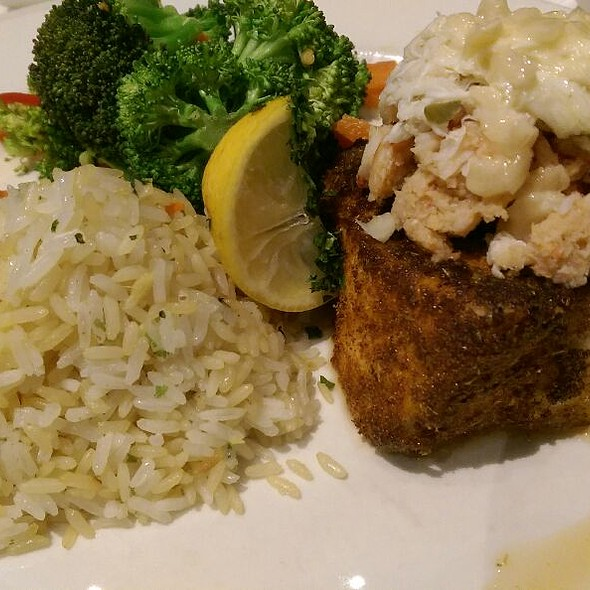 Blackened Sea Bass With Capella Topping - Chart House Restaurant - Annapolis, Annapolis, MD