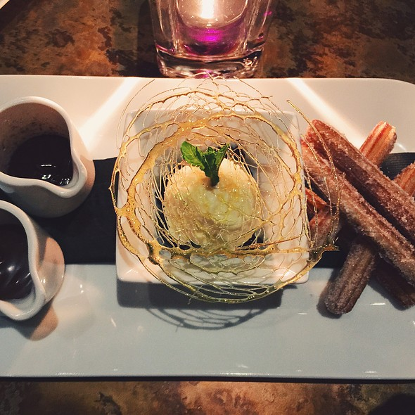 Churros With Vanilla Ice Cream And Chocolate Sauce - The Salmon House, West Vancouver, BC