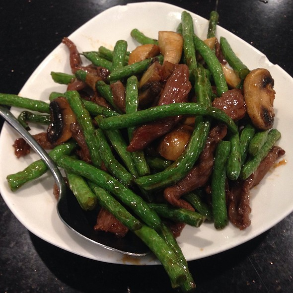 Beef and green beans