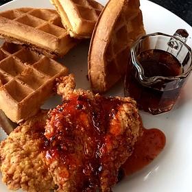 Chicken and Waffles - Trio Restaurant - Charlotte
