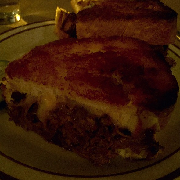 Grilled Cheese With Short Ribs, Fontina And Caramelized Onions - Beehive, Boston, MA