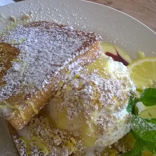 Lusciously lemon brioche french toast