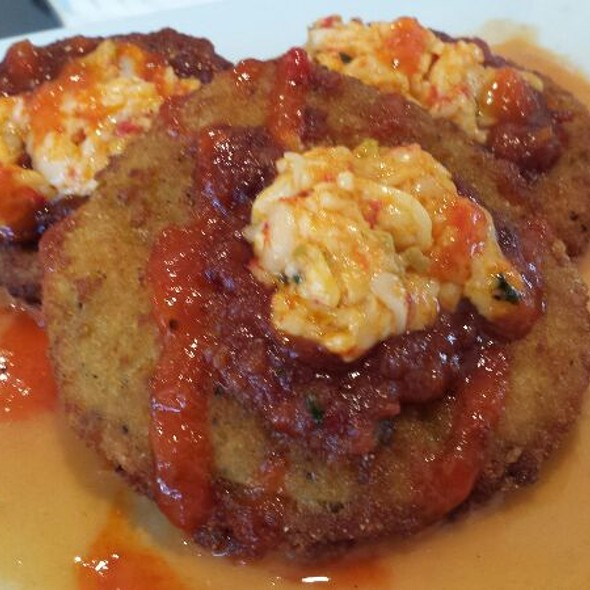 Fried Green Tomatos With Pimento Cheese - Blossom, Charleston, SC