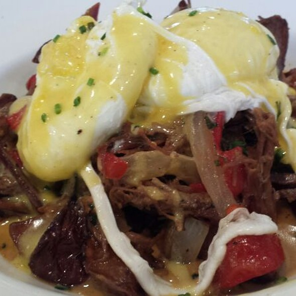 Pulled Pork Hash With Poached Eggs - Blossom, Charleston, SC