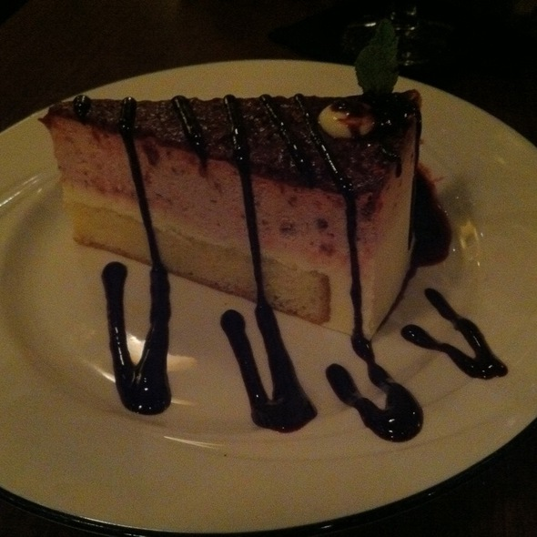 Raspberry Lemoncello Cake - Bentley's Grill - The Grand Hotel in Salem, Salem, OR