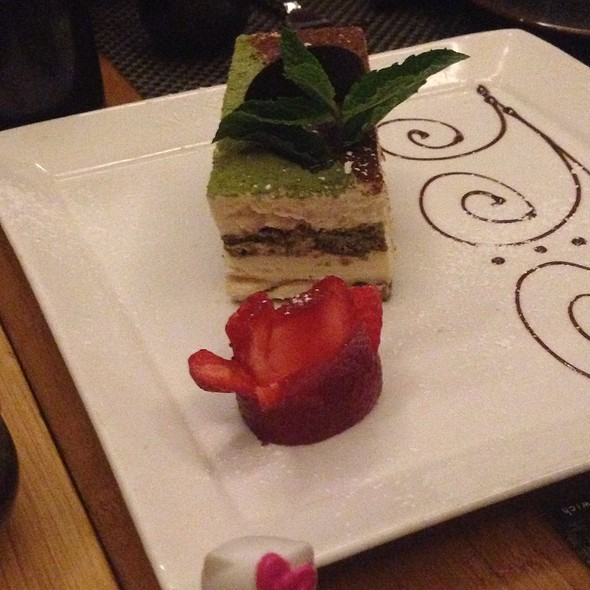 Birthday Green Tea Tiramasu - Sushi Roku - Las Vegas, Las Vegas, NV