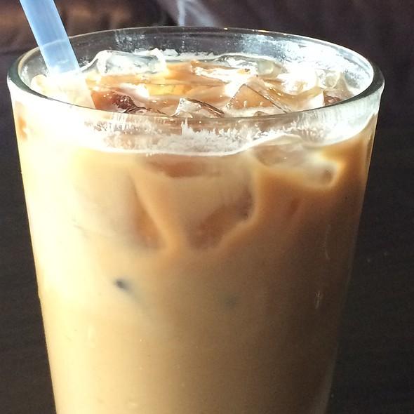 Almond Joy latte @ Bikes, Beans and Bordeaux Neighborhood Cafe