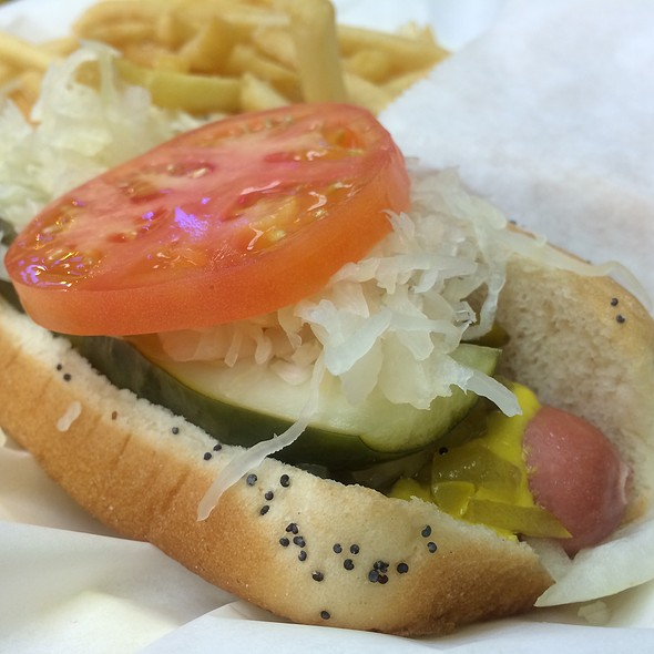 Chicago Style Hot Dog With Fries @ Jeff's Red Hots