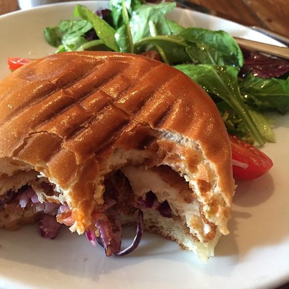 Fried Chicken Sandwich And Salad