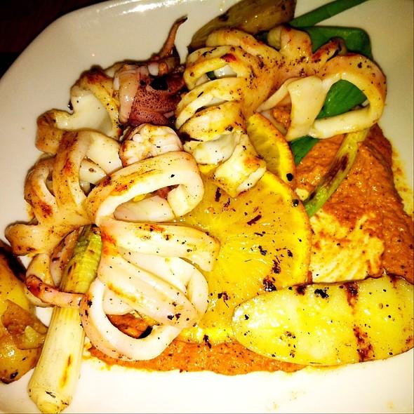 Grilled squid and romesco sauce @ Cava