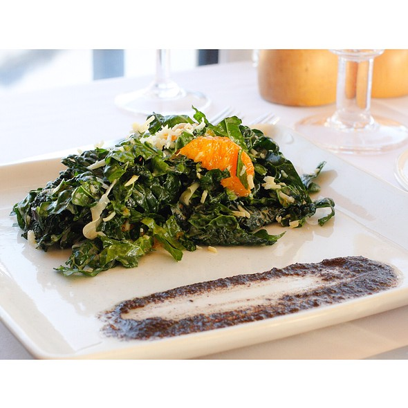 Kale Blood Orange Olive Salad - Simon Pearce Restaurant, Quechee, VT