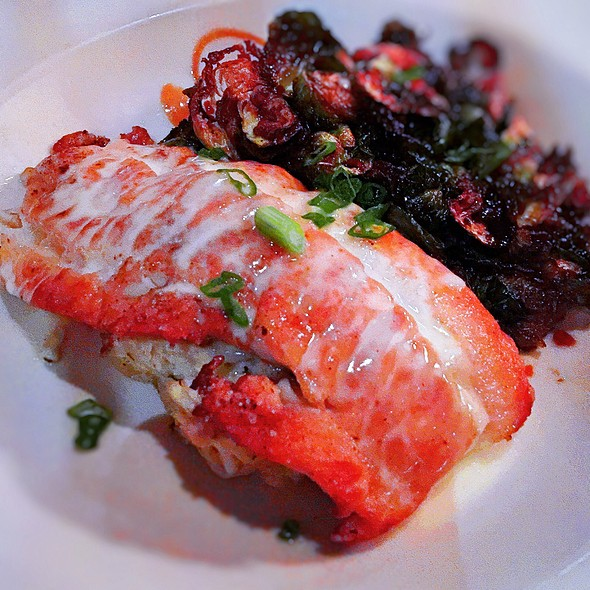 Shrimp And Crab Stuffed East Coast Flounder - Chamberlain's Fish Market Grill, Addison, TX