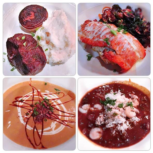 Dinner Collage - Chamberlain's Fish Market Grill, Addison, TX