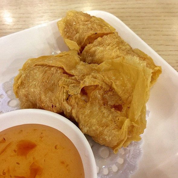 Deep Fried Tofu Skin with Shrimp Rolls | ฟองเต้าหู้ไส้กุ้งทอด @ HKN - Hong Kong Noodle @ Seacon Square