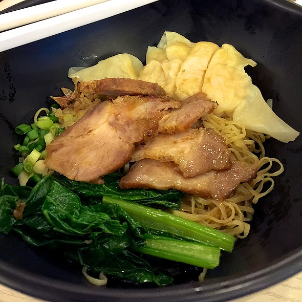 Wonton And Egg Noodle With Roasted Pork @ HKN - Hong Kong Noodle @ Seacon Square