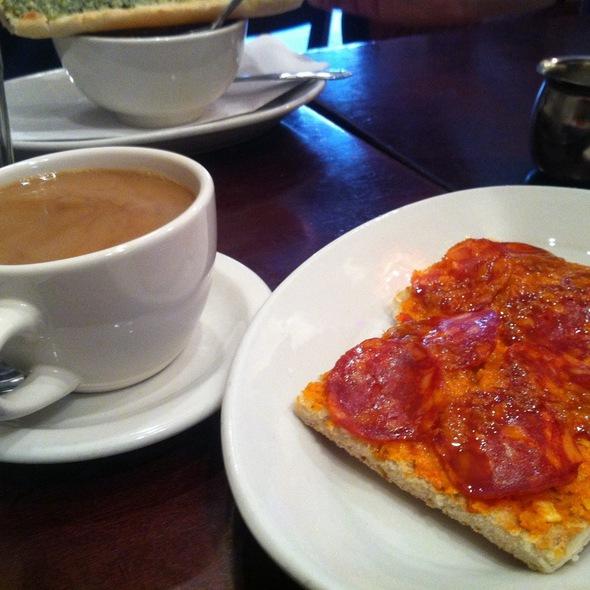 Chorizo & Romesco Crostini @ Il Bambino