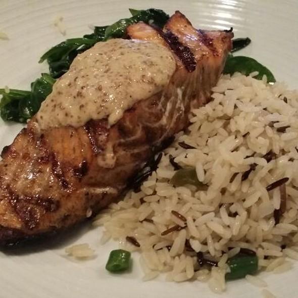 Grilled Salmon with Chardonnay Mustard Sauce - Ramparts Tavern, Alexandria, VA