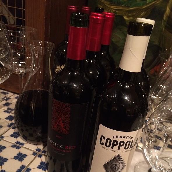 Assorted Red Wine - Al Porto Ristorante, Vancouver, BC