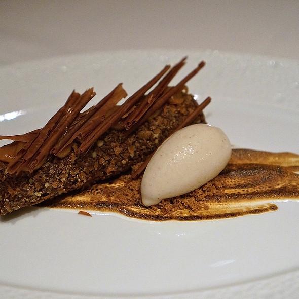 Black walnut – baba au scotch, caramelized banana, black walnut ice cream