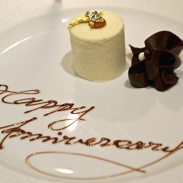 Vanilla parfait and dark chocolate mousse