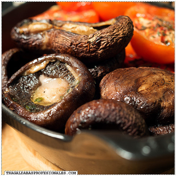 Grilled mushrooms and tomatoes @ KNRDY - American Steakhouse & Bar
