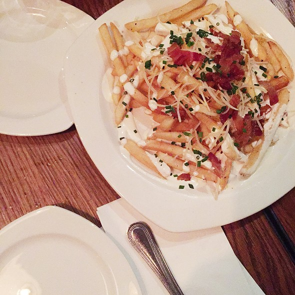 Loaded Baked Potatoe Fries @ Louie's Bar & Grill