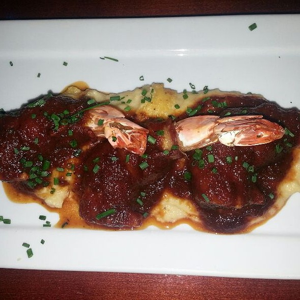 Bacon Wrapped Jumbo Shrimp With Grits - Lucas Park Grille, St. Louis, MO