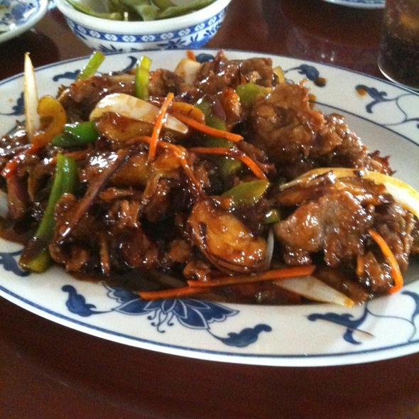 Eggplant And Beef In Garlic Sauce @ Okini