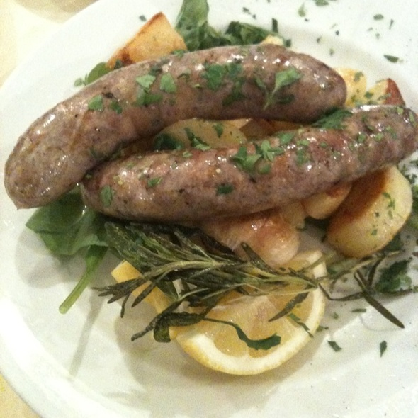 Sausages and Roasted Potatoes @ Napule