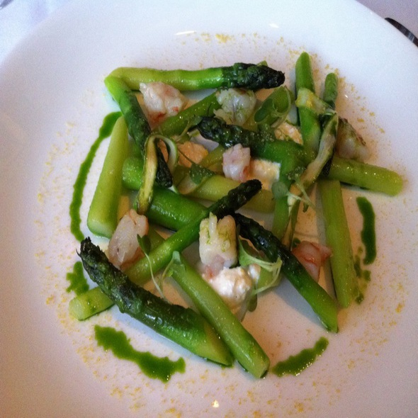 Asparagus Shrimp Salad @ Plumed Horse