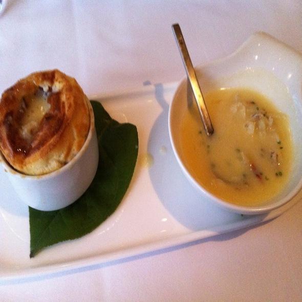 Parmesan Pepper Souffle With Uni Crab Sauce @ Plumed Horse