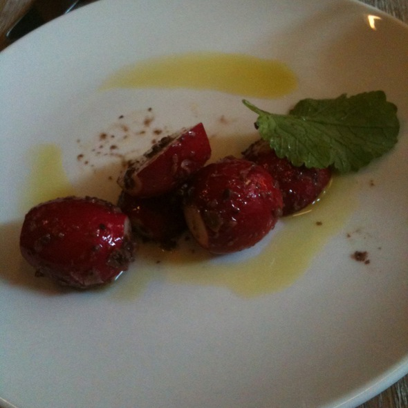 Radishes With Kalamata Olives And Olive Oil @ The Fat Radish