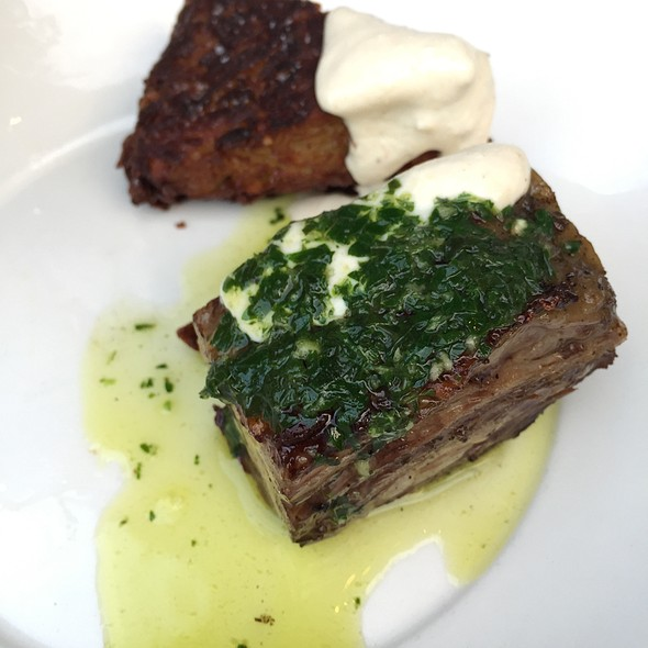 Beef Short Rib With Potato Rosti, Salsa Verde And Horseradish Cream