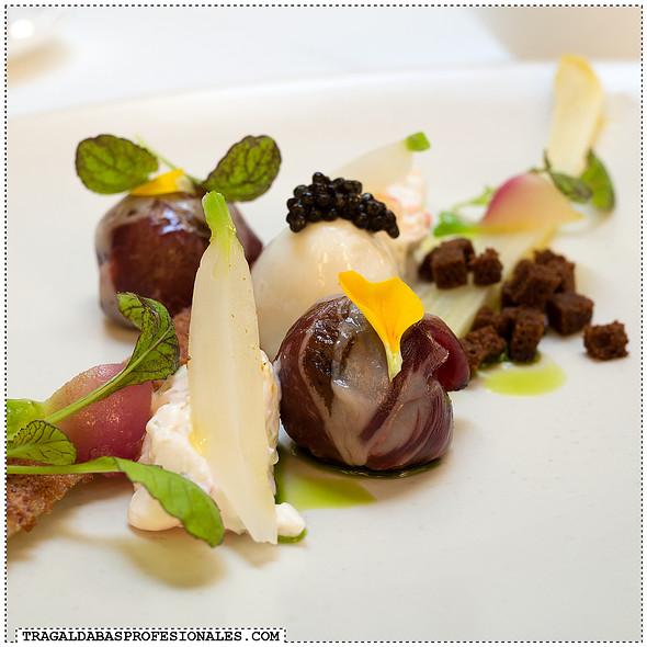 Asparagus, mangalica ham and quail egg @ Onyx Restaurant