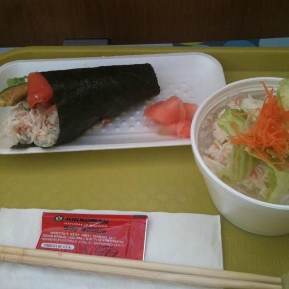 Alaska Cone And Crab Sunomono @ Izumi Sushi Restaurant