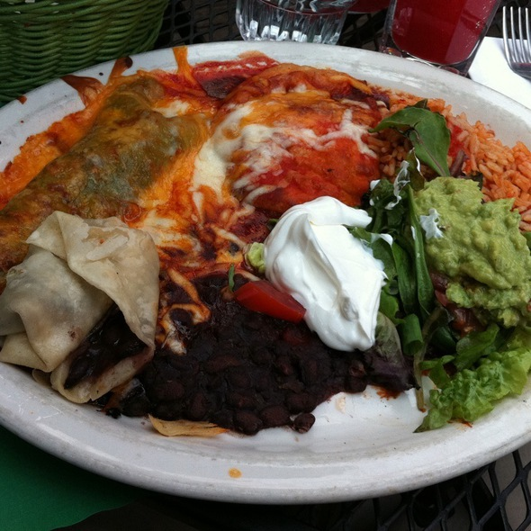 Santa Fe Sampler At El Patio Mexican Restaurant In Des Moines, IA