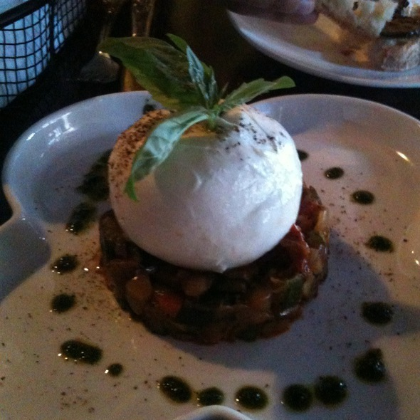Burrata On Vegetable Caponata @ Bugatti Cafe