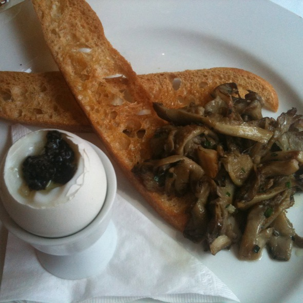 Oeuf A La Coque Tapenade Truffée Sauté De Pleurotes @ Holder Restaurant Bar