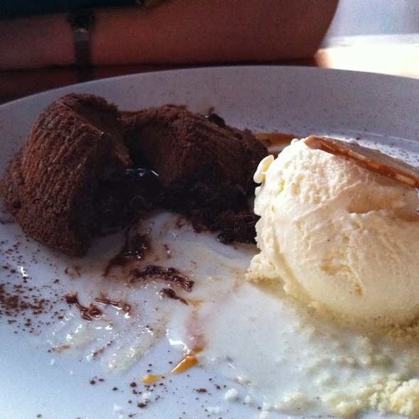 Warm Sea-Salt Caramel Filled Chocolate Cake @ NOtaBLE