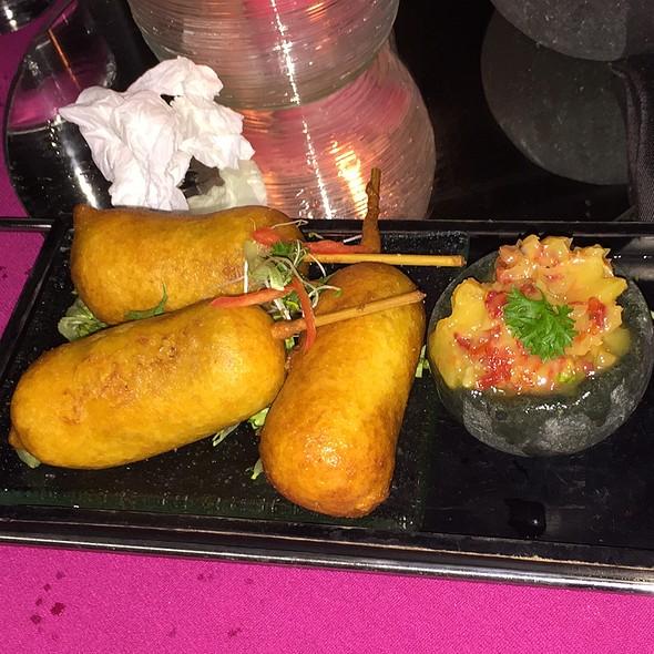 Beef Chorizo Corn Dogs @ the rock bar at anaya resort, bali
