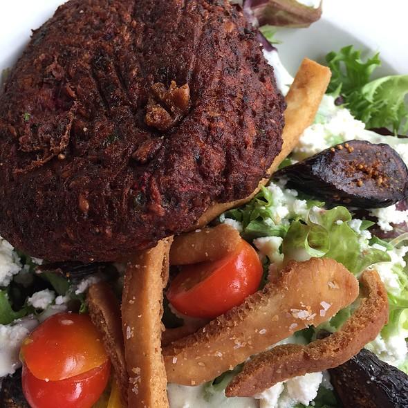 Mediterranean Salad with Veggie Burger - Home Grown Café, Newark, DE