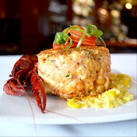 Crawfish Cakes - Dickie Brennan's Steakhouse, New Orleans, LA