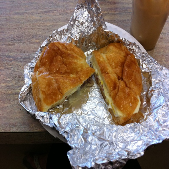 Bacon, Egg and Cheese Croissant @ Whitney Donut Shop