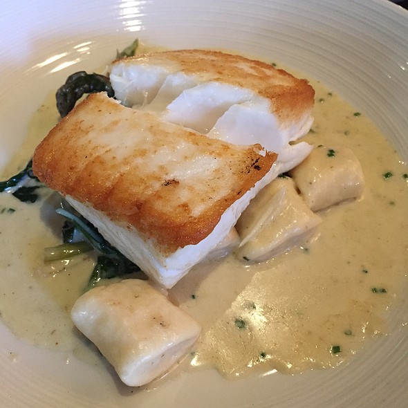 Halibut With Ricotta Gnocchi @ Island Creek Oyster Bar