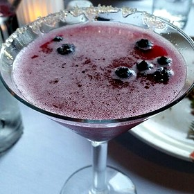 Blueberry Lemon Drop Martini