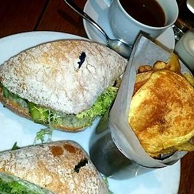 Grilled Asparagus and Portobello Mushroom Sandwich
