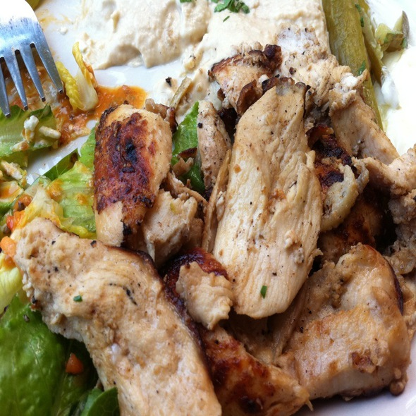 Chicken Schwarma Plate @ Pasha Restaurant