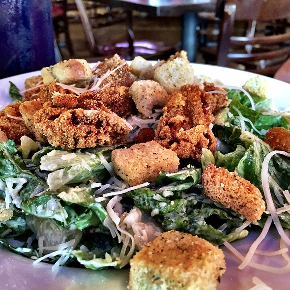 Fried Oyster Ceasar Salad @ Cypress Grill