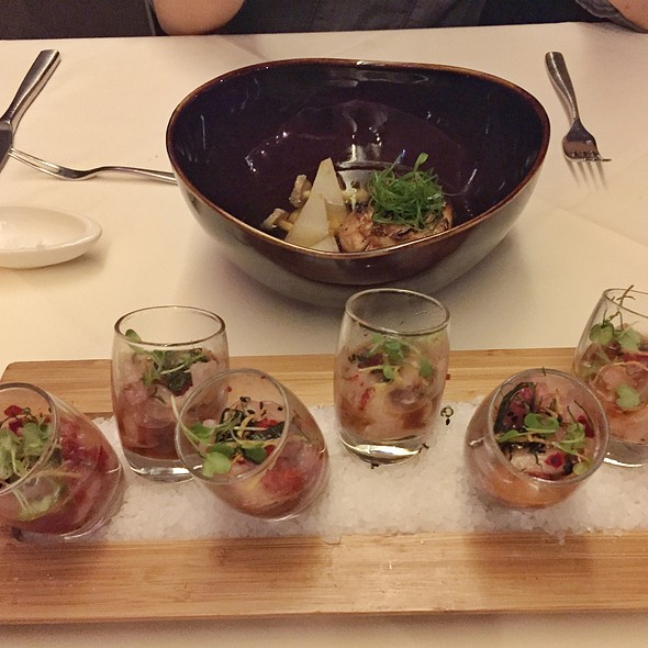 Alexander Steakhouse Cupertino >> Alexander's Steakhouse - hamachi shots - Foodspotting