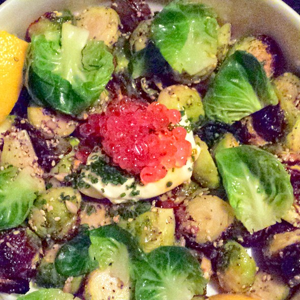 Roasted brussels sprouts @ OX Restaurant